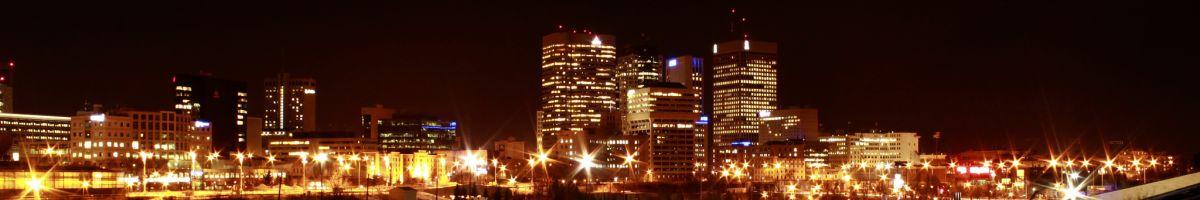 Winnipeg, die Hauptstadt Manitobas, ist nicht nur bei Nacht ein Erlebnis.