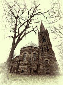 Die Kirche von Charlottetown auf einer aktuellen (!) Aufnahme.