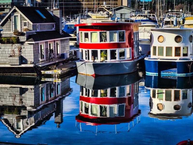 Hausboote in Coal Harbour. Vielen gilt der Hafen längst als überfüllt.