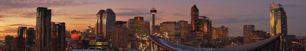 Romantische Morgendämmerung in Calgary