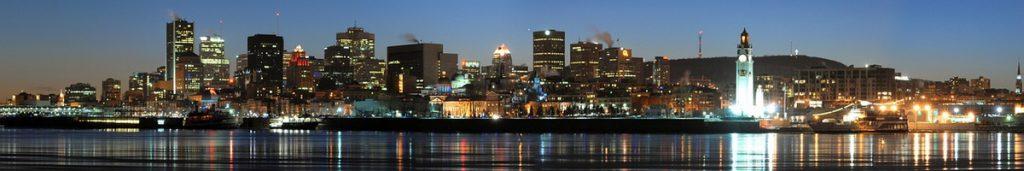 """Montreal ist eine """"Stadt am Wasser"""" mit überaus beeindruckender Skyline."""