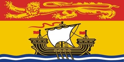 Die Flagge von New Brunswick ist ein dem Provinzwappen nachempfundenes Banner.